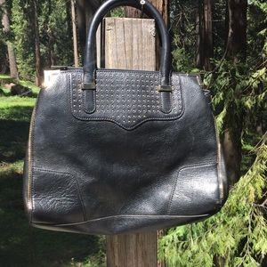 Rebecca Minkoff black with gold hardware hand bag